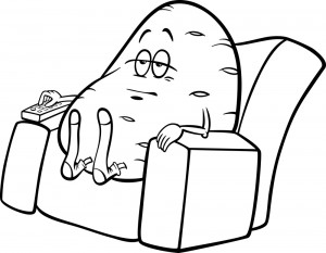 Image of couch potato sat in chair